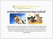Arthritis Supplements for Dogs Caldwell