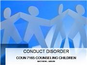 CONDUCT DISORDER Slide Show