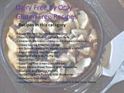 Gluten Free Recipes - Dairy Free