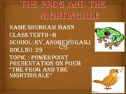 The Frog And The Nightingale - SHUBHAM MANN