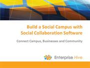 Build a Social Campus with Social Collaboration Software