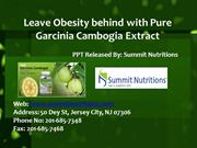 Leave Obesity behind with Pure Garcinia Cambogia Extract