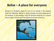 Belize – A place for everyone