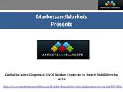 Global In-Vitro Diagnostic (IVD) Market Expected to Reach $64 Billion