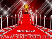LADDER WITH RED CARPET WINNER SUCCESS POWERPOINT BACKGROUND