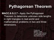 Pythagorean Theorem PowerPoint Accomodations CPALMS