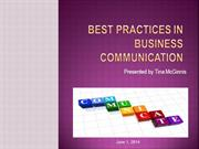 Best Practices in Communication