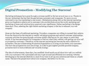 Digital Promotion - Modifying The Success!