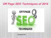 Off Page SEO Techniques of 2014