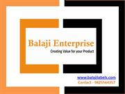 Balaji enterprise supplier of Hologram Stickers