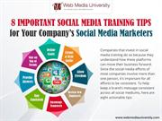 8 Important Social Media Training Tips