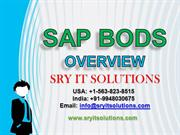 SAP BODS ONLINE TRAINING | BODS PROJECT SUPPORT | BODS CERIFICATION