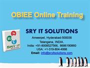 obiee online training | obiee online training in india, usa, uk