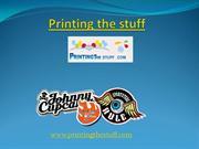 Try Sticker Printing services by Printing the Stuff