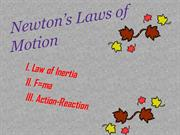 three laws of motion