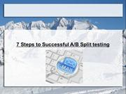 7 Steps to Successful AB Split testing