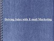 Driving Sales with E-mail Marketing