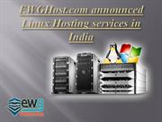 Linux Hosting Services India by ewgHost.com