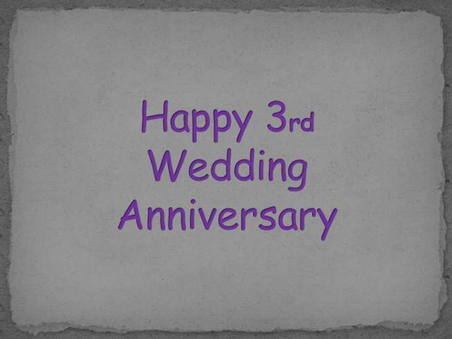 3rd wedding anniversary images