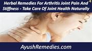 Herbal Remedies For Arthritis Joint Pain And Stiffness - Take Care Of