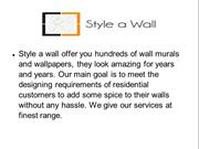 Wall Stickers & Murals - style a wall