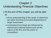BUSS3 Chapter 2 Understanding financial objectives
