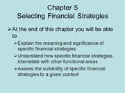 BUSS3 Chapter 5 Selecting Financial Strategies