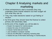 BUSS3 Chapter 8 Analysing markets and marketing