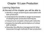 BUSS3 Chapter 15 Lean Production