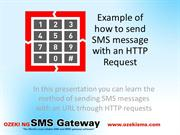 How to send HTTP SMS throught request