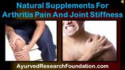 Natural Supplements For Arthritis Pain And Joint Stiffness