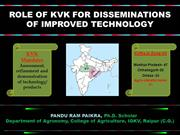 Role of KVK for Dissemination of Improved Technology