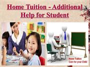 Home Tuition - Additional Help for Student
