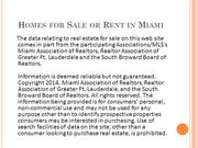 Homes for Sale or Rent in Miami