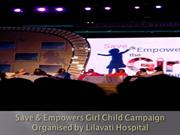 Trustee of Lilavati Hospital Chetan Mehta at Save Girl Child Campaign