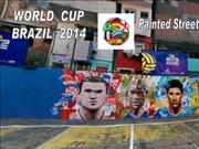 Brazil's Painted Streets  WO)RLD  CUP