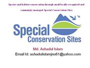 Presentation on special conservation site