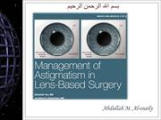 Management of Astigmatism in Lens-Based Surgery