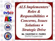 Roles and Responsibilities of ALS Implementers new