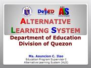 The Alternative Learning System (Orientation Lecture)