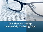 The Shearin Group Leadership Training Tips How to Succeed in Business