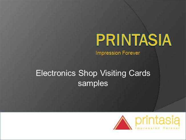 Print gift shop business visiting cards hyderabad printasia electronics shop visiting card printasia reheart Gallery