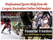 Professional Sports Help from the Largest Australian Online Oddsmakers