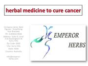 herbal medicine to cure cancer