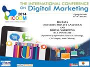 BIG DATA ( SECURITY/ PRIVACY ANALYTIC) AND DIGITAL MARKETING