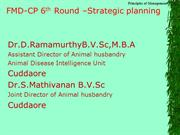 Action plan for FMD-CP 6th round