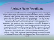 Antique Piano Rebuilding