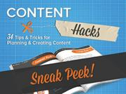 Sneak Peek! Content Marketing Hacks 34 Tips and Tricks for Planning an