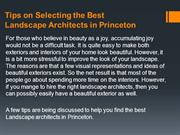 Tips on Selecting the Best Landscape Architects in Princeton