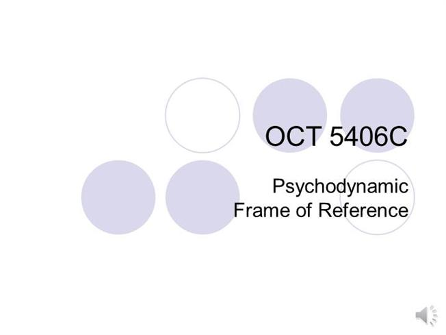 Voice Over Powerpoint- Psychodynamic Model |authorSTREAM